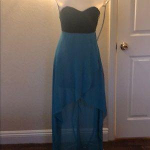 Strapless dress cross top